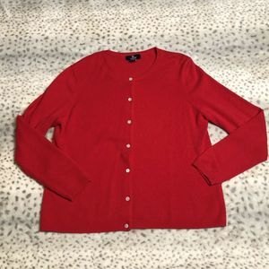 Lands' End Cashmere Cardigan SZ Large Petite 14-16